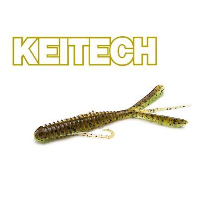 """Keitech 3"""" Hog Impact Green Pumpkin Chartreuse  7cm/1g/12pcs"""