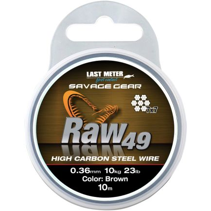 Savage Gear Raw 49 stainless steel wire 0.45mm/16kg/10m