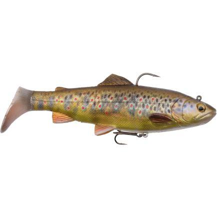Savage Gear 4D Rattle Dark Brown Trout 12.5cm/35g