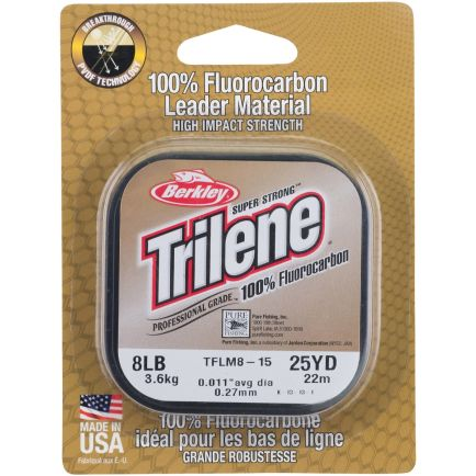 Berkley Trilene 100% Fluorocarbon Leader Clear 0.18mm/2.3kg/25m