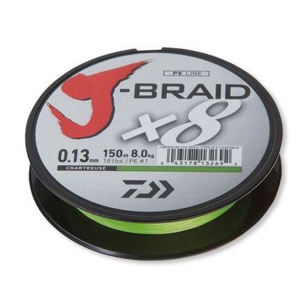 DAIWA J-Braid X8 Chartreuse 0.28mm/26.5kg/150m