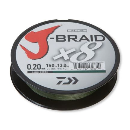 DAIWA J-Braid X8 Dark Green 0.13mm/8kg/150m