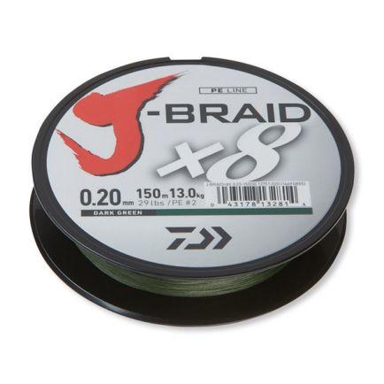 DAIWA J-Braid X8 Dark Green 0.16mm/9kg/150m