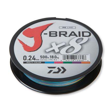 DAIWA J-Braid X8 Multi Color 0.18mm/12kg/150m