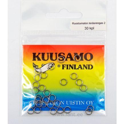 Kuusamo stainless steel split rings #4/20pc