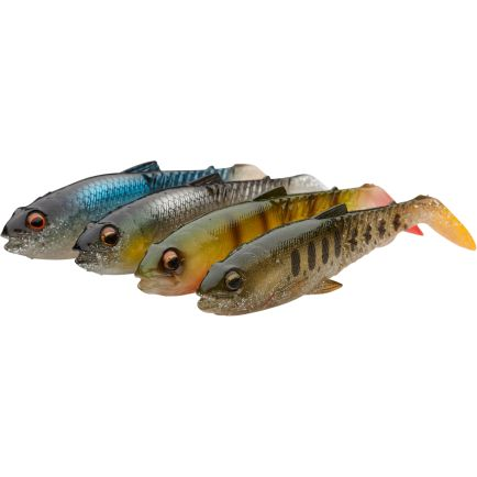 Savage Gear Craft Cannibal Paddletail 10.5cm/12g Clear water mix 4pcs