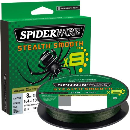 Spiderwire Stealth Smooth 8 Moss Green 0.19mm/18.0kg/150m